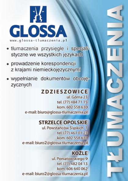 Glossa - ulotka